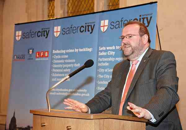 Addressing the Safety Thirst awards presentation at Guildhall as Chairman of the Licensing Committee. July 2012