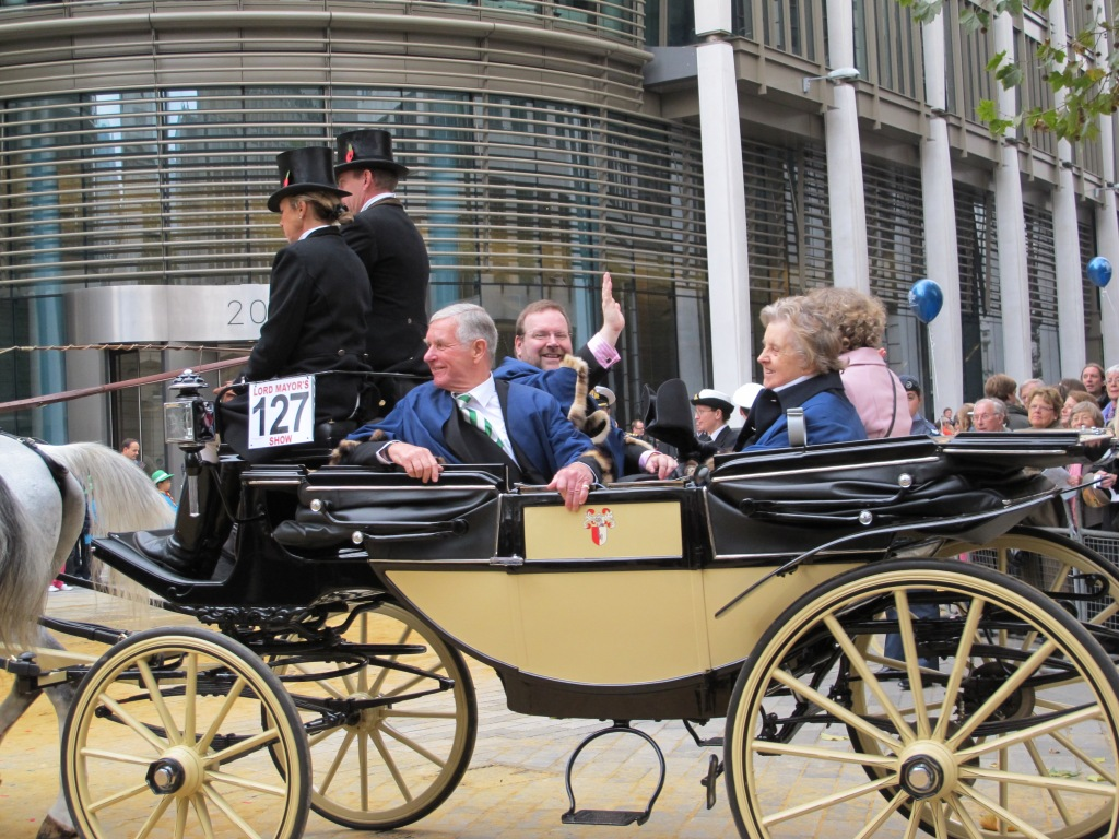 In the Lord Mayor & Sheriffs' Committee Carriage during the Lord Mayor's Show, November 2011