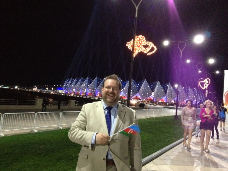 In Baku, Azerbaijan, for the Eurovision Song Contest Grand Minal. May 2012
