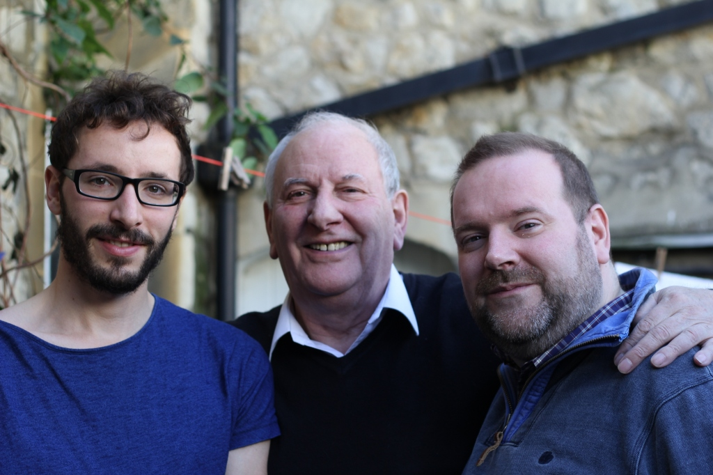 Edward with his father, Andrew, and brother Oliver. October 2012.