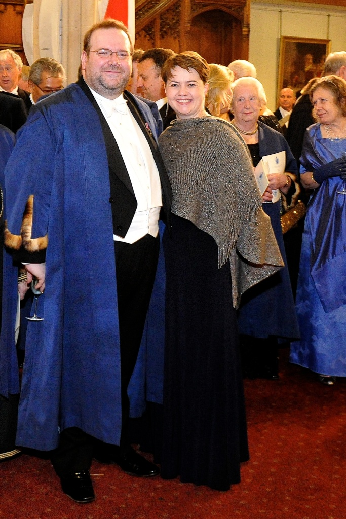 With Ruth Davidson MSP, leader of the Scottish Conservatives, at the Lord Mayor's Banquet, November 2012