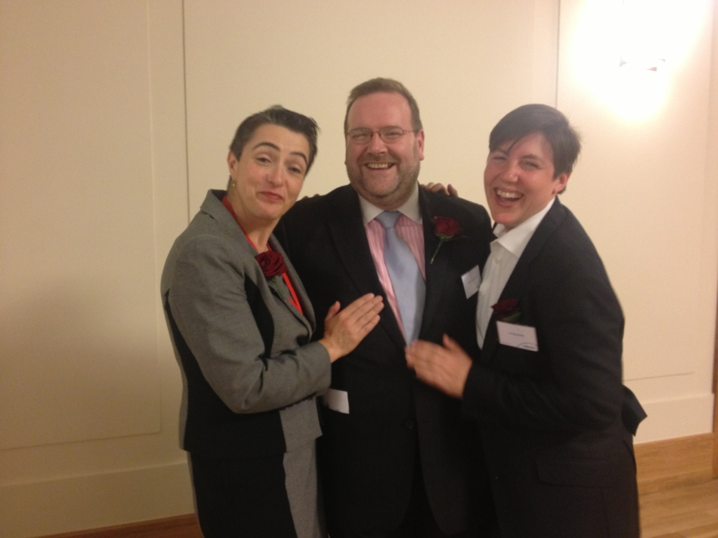 Edward and Meg with the outgoing Speaker of Hackney, Cllr Jess Webb, May 2013