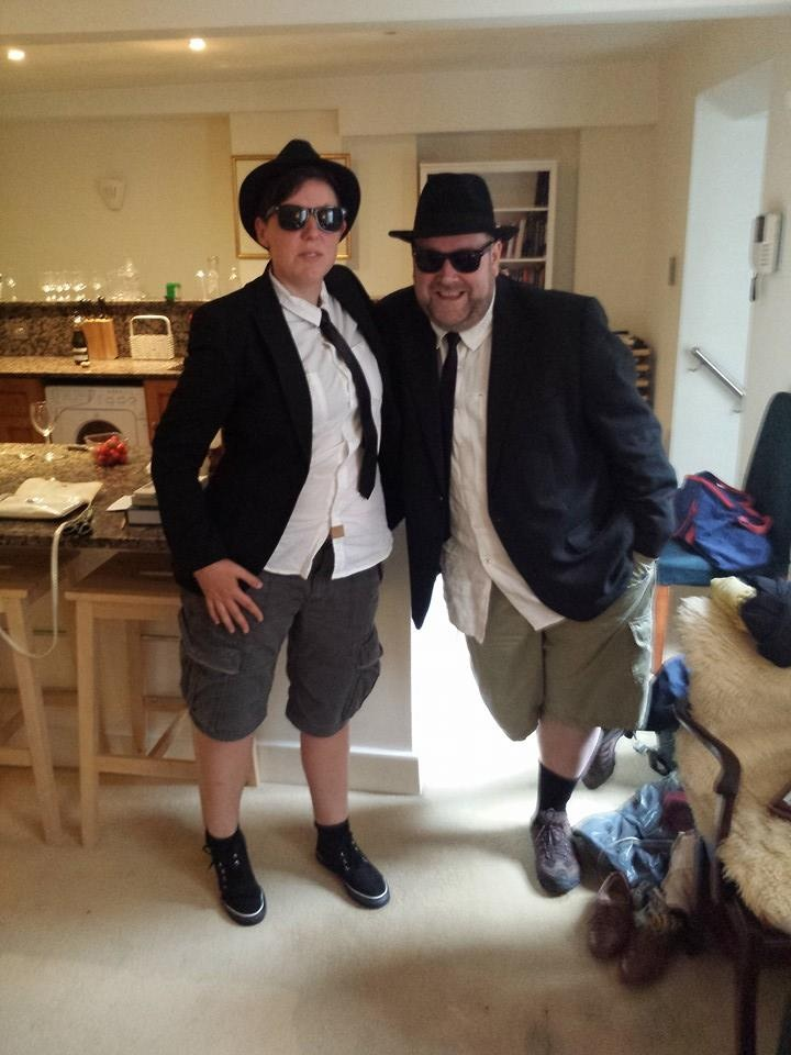 With Meg as the Blues Brothers on the evening of Meg's 40th Birthday Party - Saturday 31 May 2014