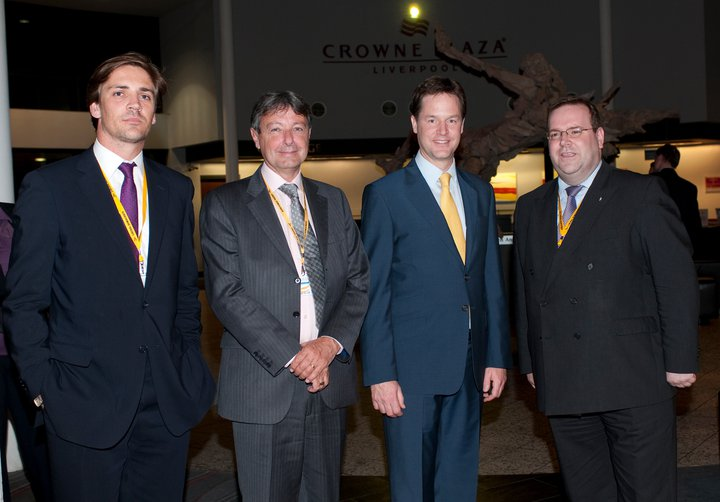 With Deputy Prime Minister & Leader of the Liberal Democrats, The Rt Hon Nick Clegg MP. Liberal Democrat Conference, September 2010.
