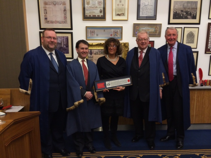 Celebrating Heather Rabbatts CBE, FA Board Member, receiving the Freedom of the City of London - February 2014