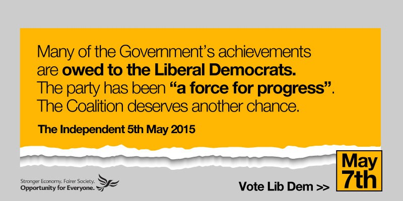 General Election 2015: For our country's sake, vote Liberal Democrat on May 7th